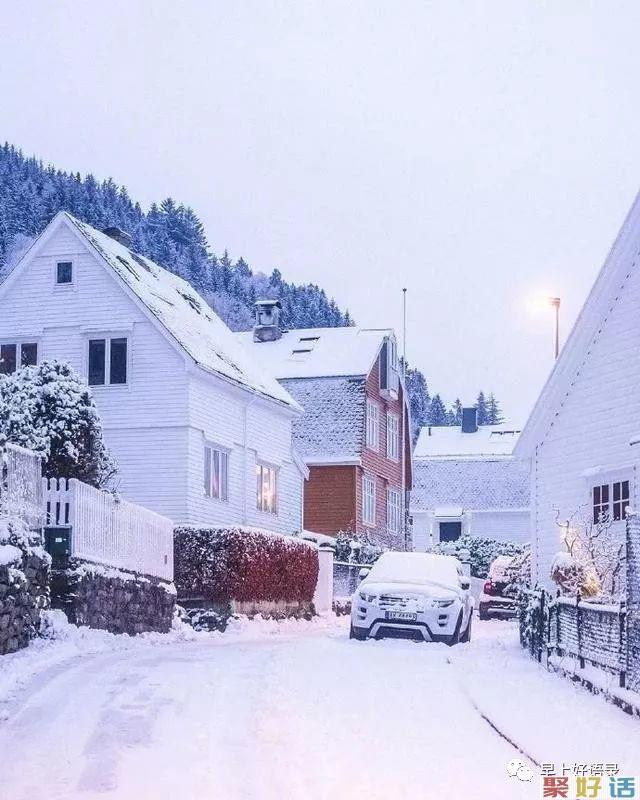 下雪了的说说心情短语,很喜欢下雪天的文案, 发朋友圈:大雪飘飘,情意脉脉,祝福悄悄。插图