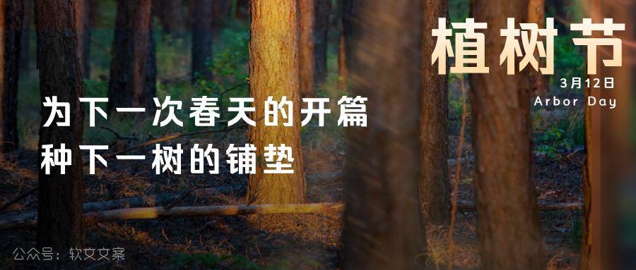 植树节文案、植树节海报宣传标语设计欣赏: 植树节, 你想栽在我心上?插图1