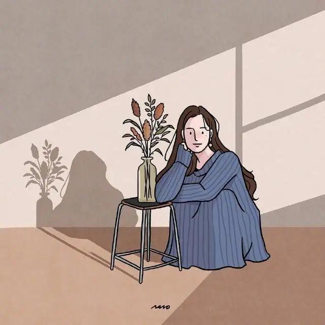 感情好累好压抑的文案配图:哭红了眼眶,却还笑着原谅。插图3