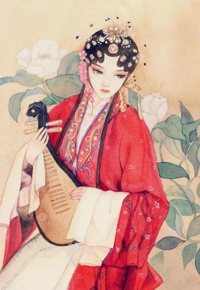 适合女生发的古风唯美文案说说: 从此人海漂流,闭口不谈爱到白头。插图6
